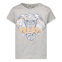Picture of Kenzo K05048 baby shirt light gray