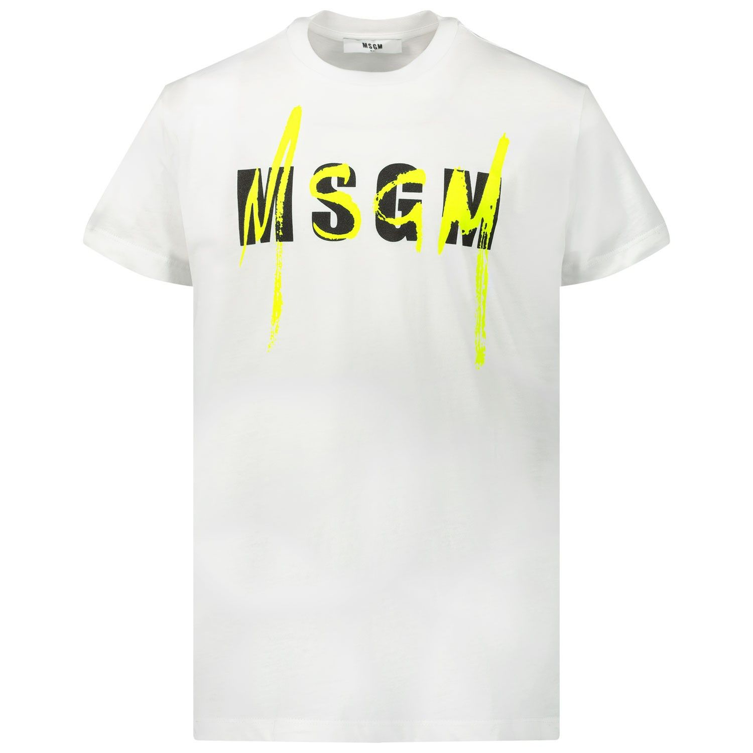 Picture of MSGM 22088 kids t-shirt white