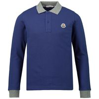 Picture of Moncler 8307750 kids polo shirt cobalt blue