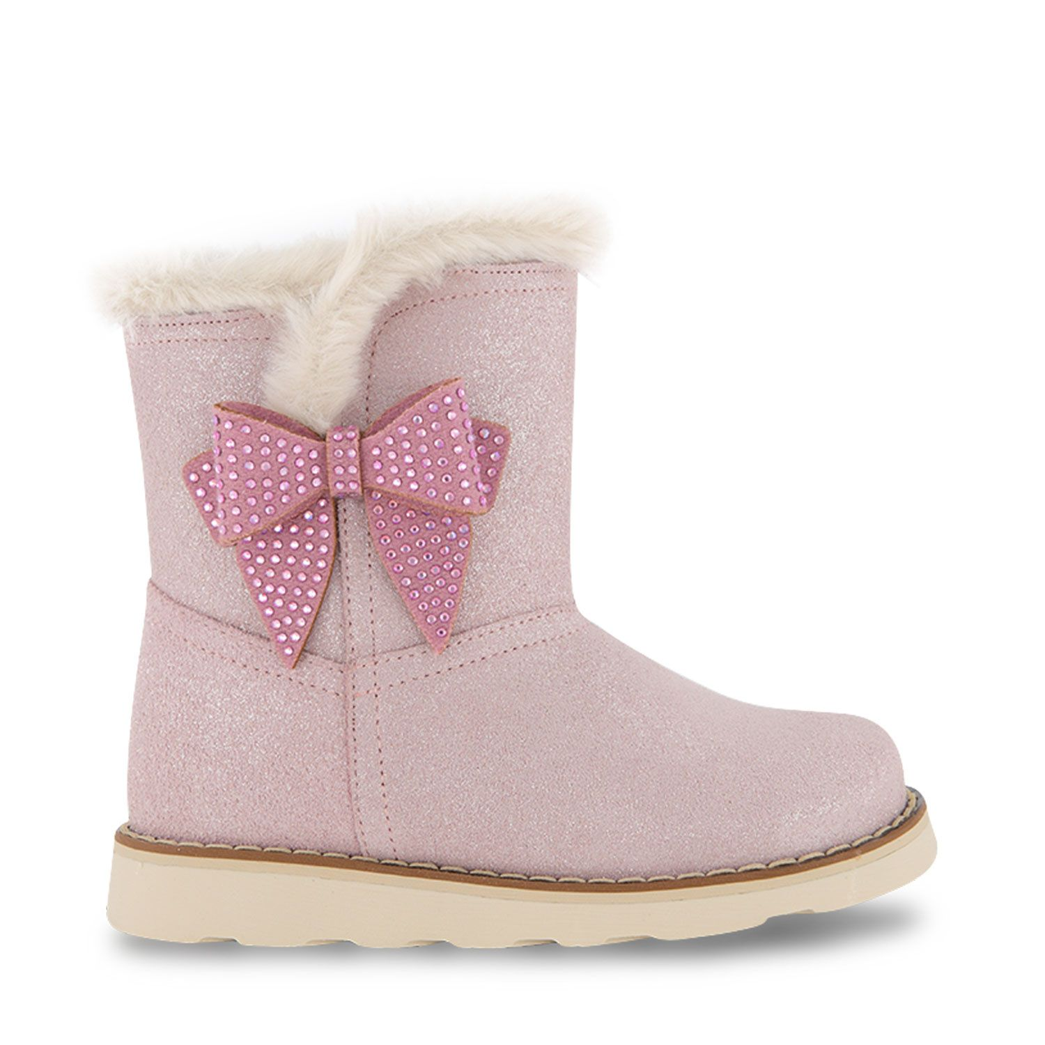 Picture of MonnaLisa 838016 kids boots light pink