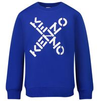 Picture of Kenzo K25154 kids sweater cobalt blue