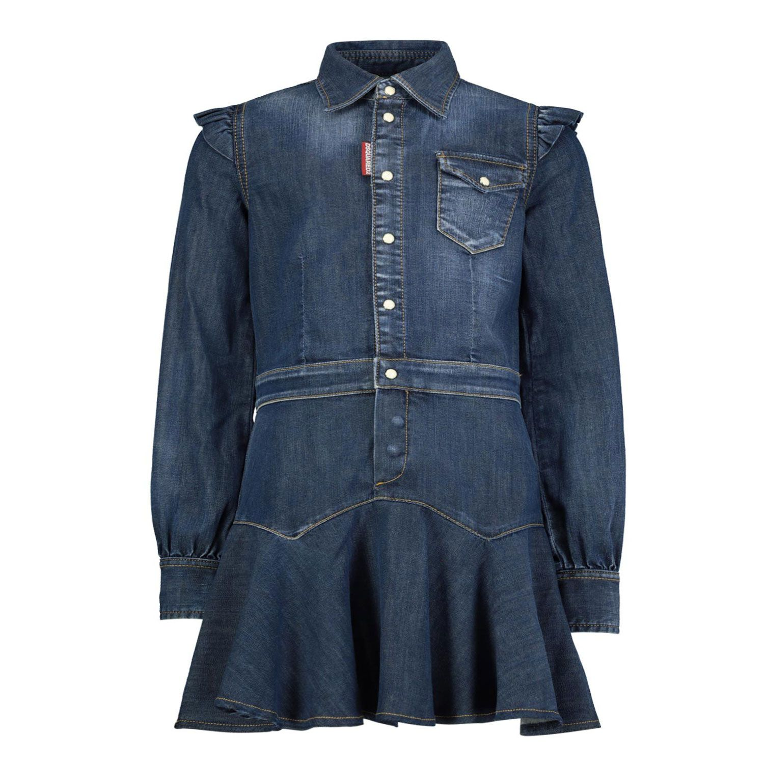 Picture of Dsquared2 DQ04E9 baby dress jeans