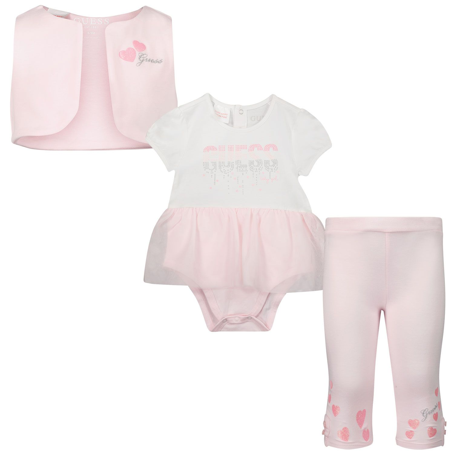 Picture of Guess S1RG10 baby set light pink