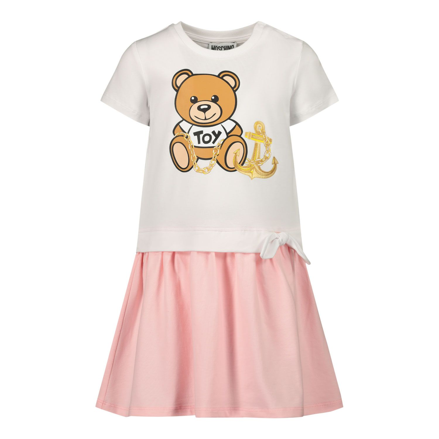Picture of Moschino MDV08R baby dress light pink