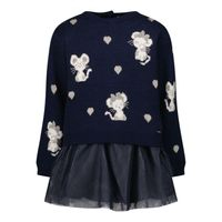 Picture of Mayoral 2923 baby dress navy