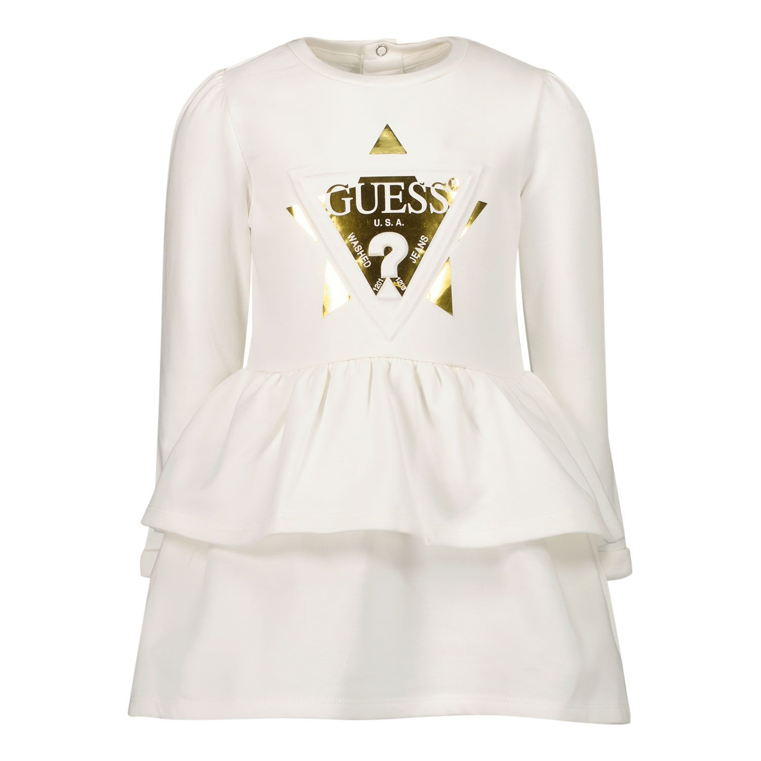 Picture of Guess A1BK16 B baby dress off white