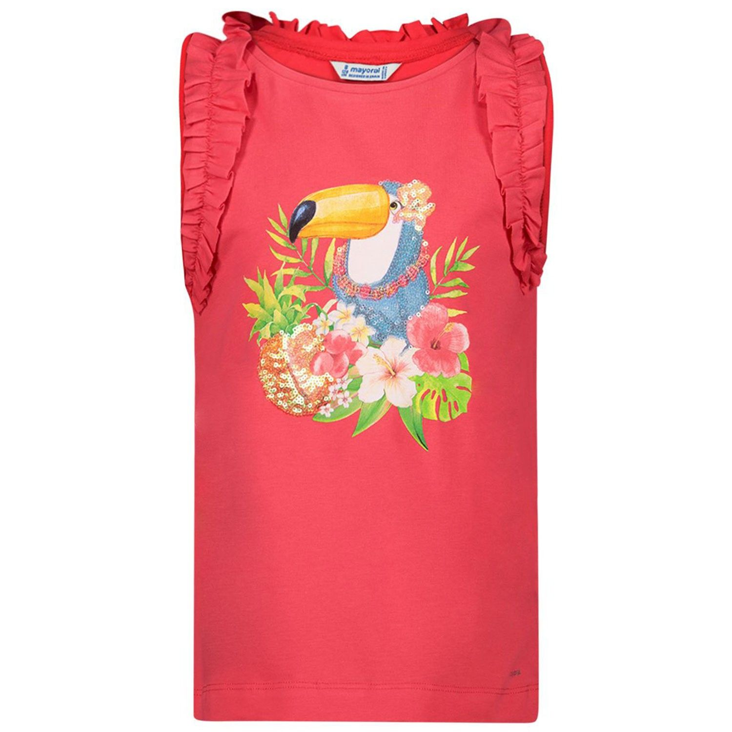 Picture of Mayoral 3025 kids t-shirt coral
