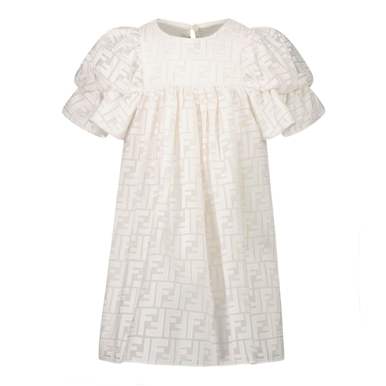 Picture of Fendi BFB363 AEZ9 baby dress white