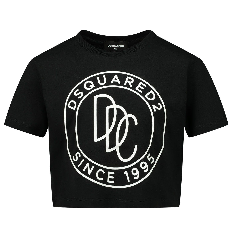 Afbeelding van Dsquared2 DQ0100 kinder t-shirt zwart