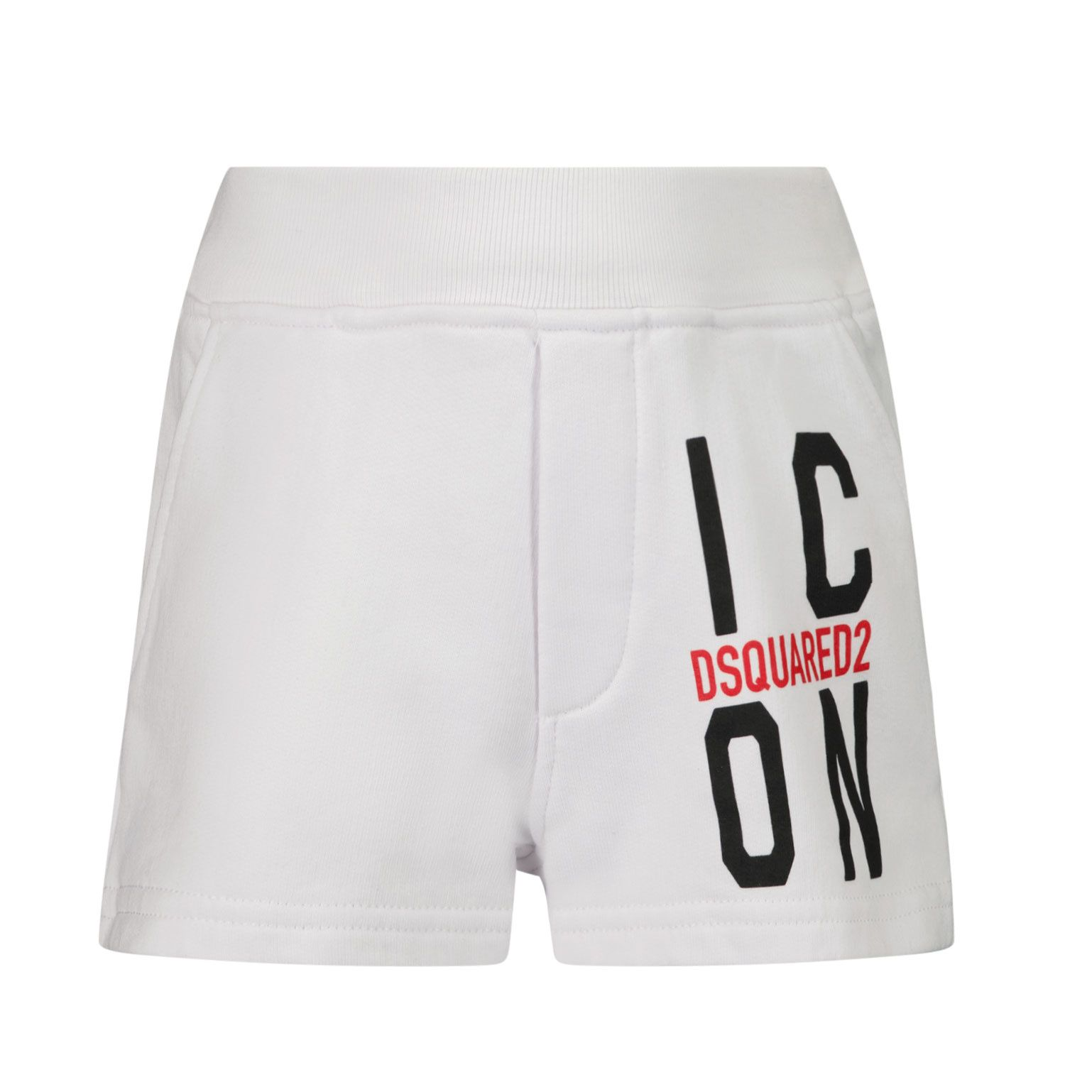 Picture of Dsquared2 DQ0251 baby shorts white