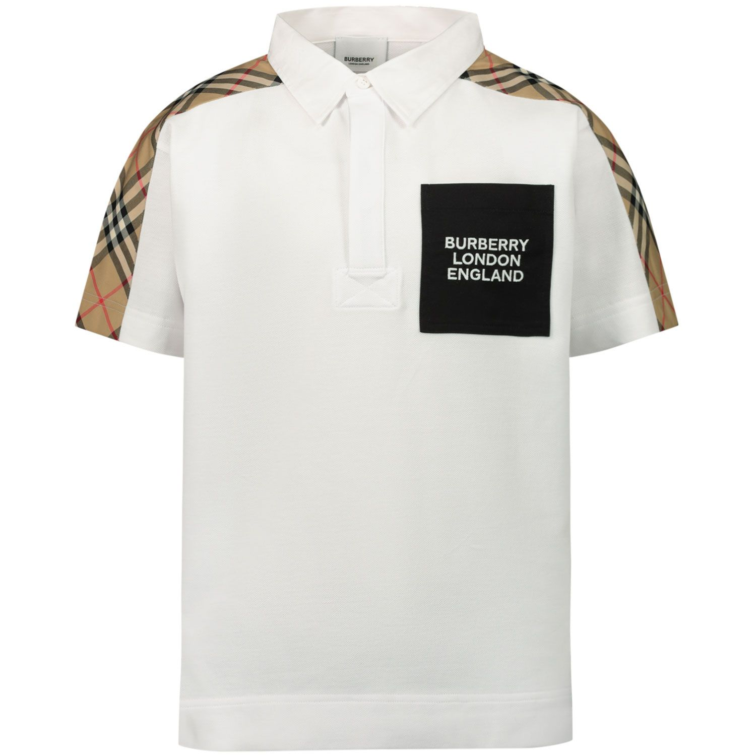 Picture of Burberry 8036419 kids polo shirt white