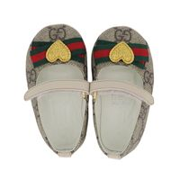 Picture of Gucci 418995 baby shoes beige