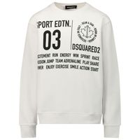 Picture of Dsquared2 DQ0016 kids sweater white