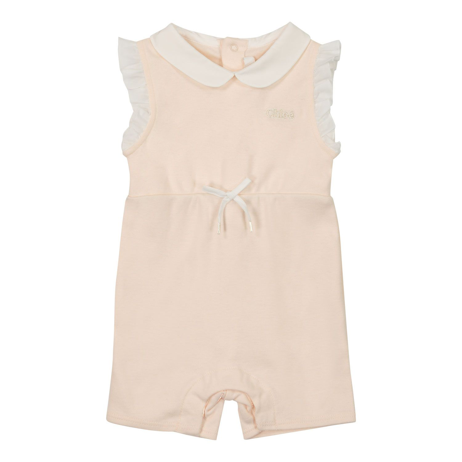 Picture of Chloé C94392 baby playsuit salmon
