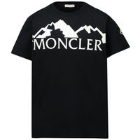 Picture of Moncler 8C72820 kids polo shirt black