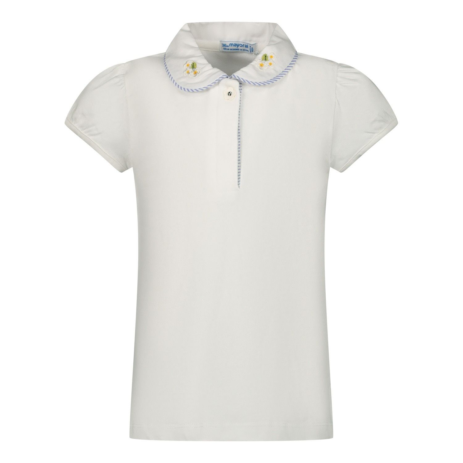 Picture of Mayoral 1167 baby poloshirt white