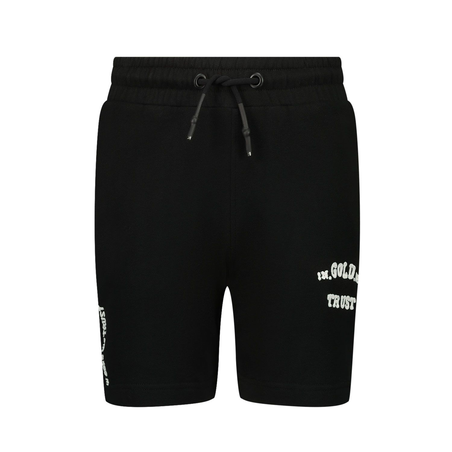 Picture of in Gold We Trust CHAIN EMBROIDERY SHORT kids shorts black