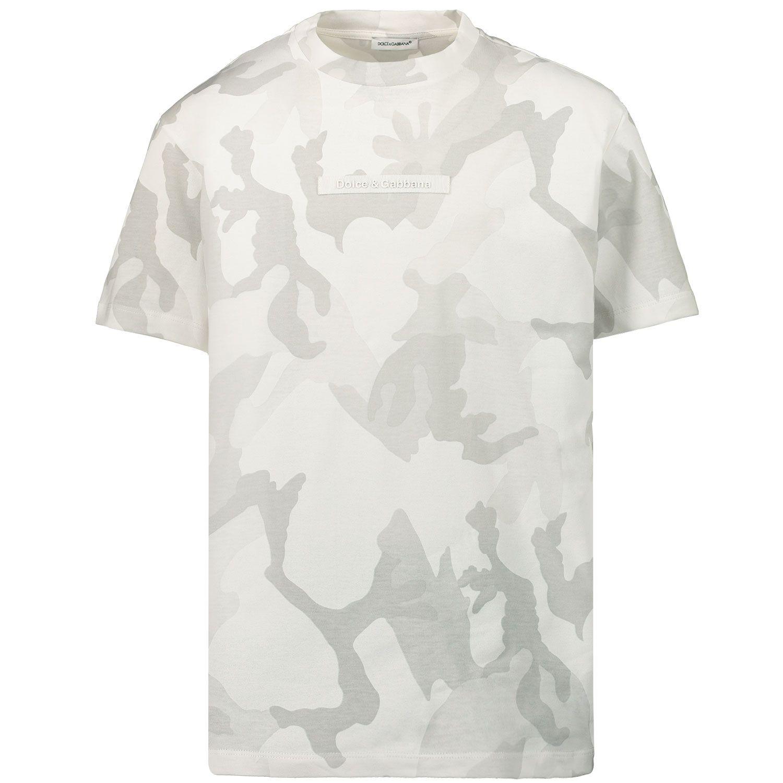 Afbeelding van Dolce & Gabbana L4JT9A G7YIS kinder t-shirt licht grijs