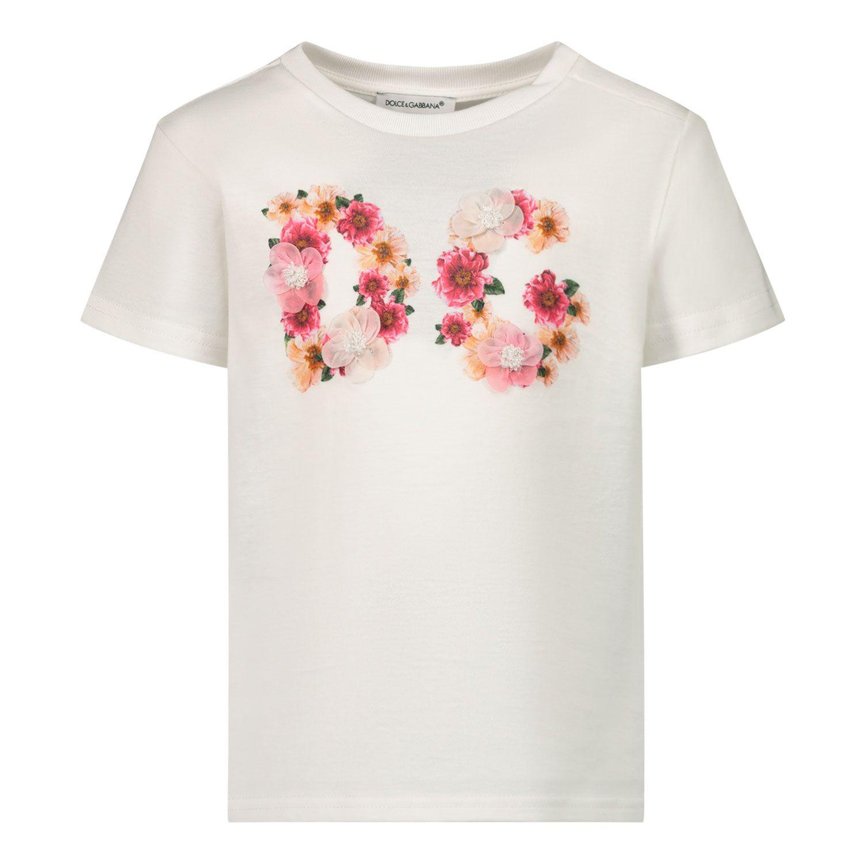 Bild von Dolce & Gabbana L2JTBL/G7XMC Kindershirt Weiß