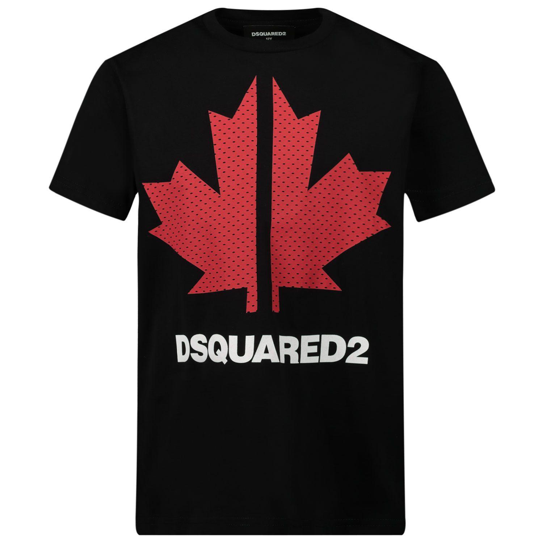 Afbeelding van Dsquared2 DQ0028 kinder t-shirt zwart