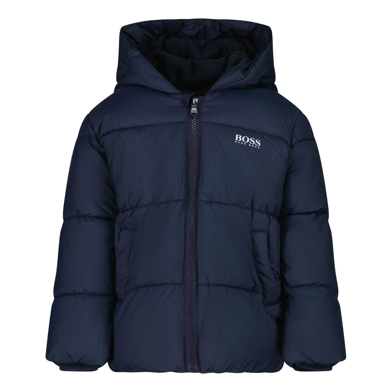 Picture of Boss J06237 baby coat navy