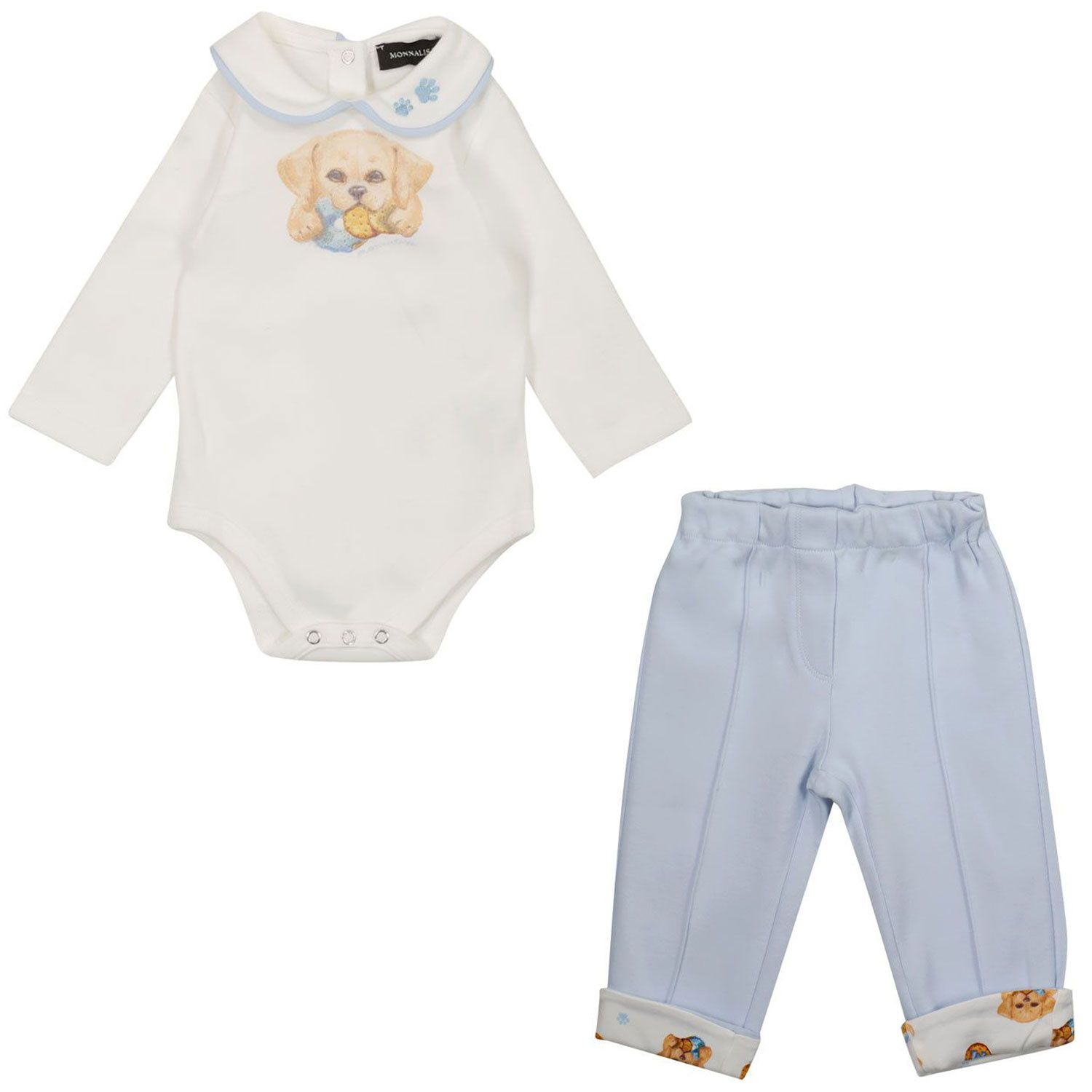 Picture of MonnaLisa 228500 baby set off white