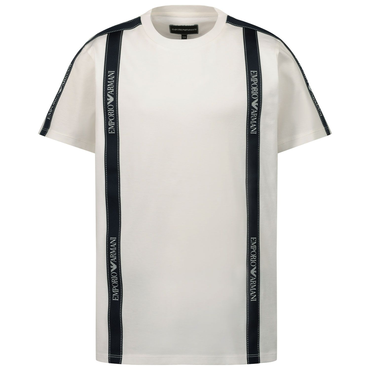 Picture of Armani 6H4TG4 kids t-shirt off white