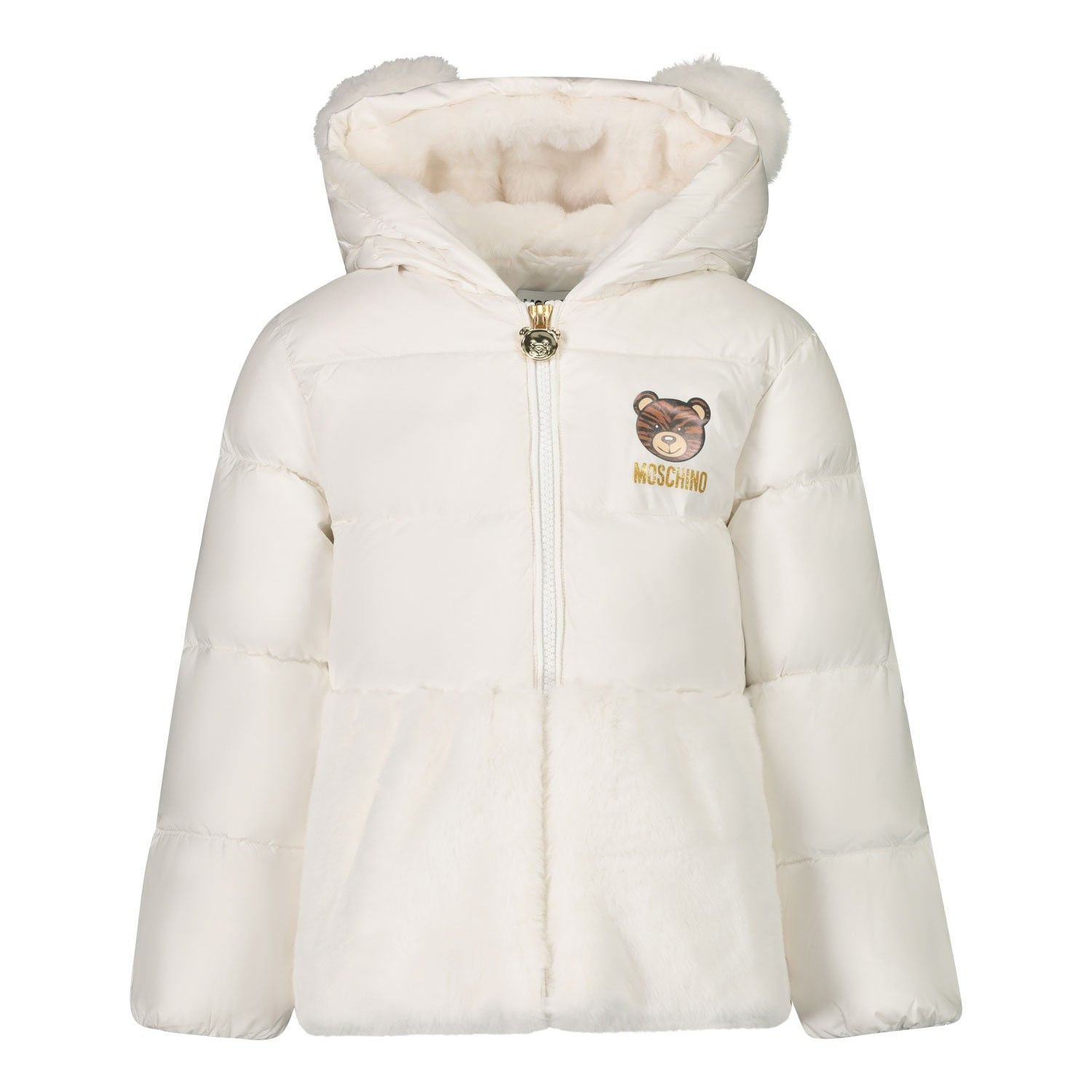Picture of Moschino MDS01Z baby coat off white