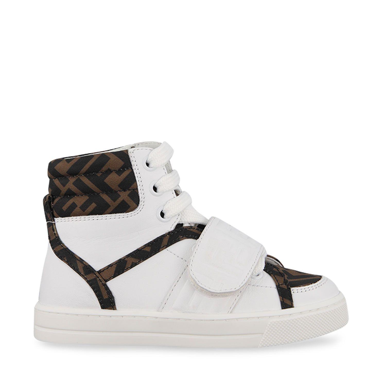 Picture of Fendi JMR351 AD7D kids sneakers white