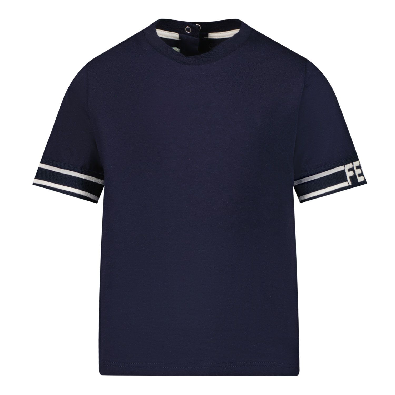 Bild von Fendi BUI028 7AJ Baby-T-Shirt Marine