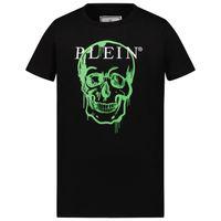 Picture of Philipp Plein BTK1090 kids t-shirt black