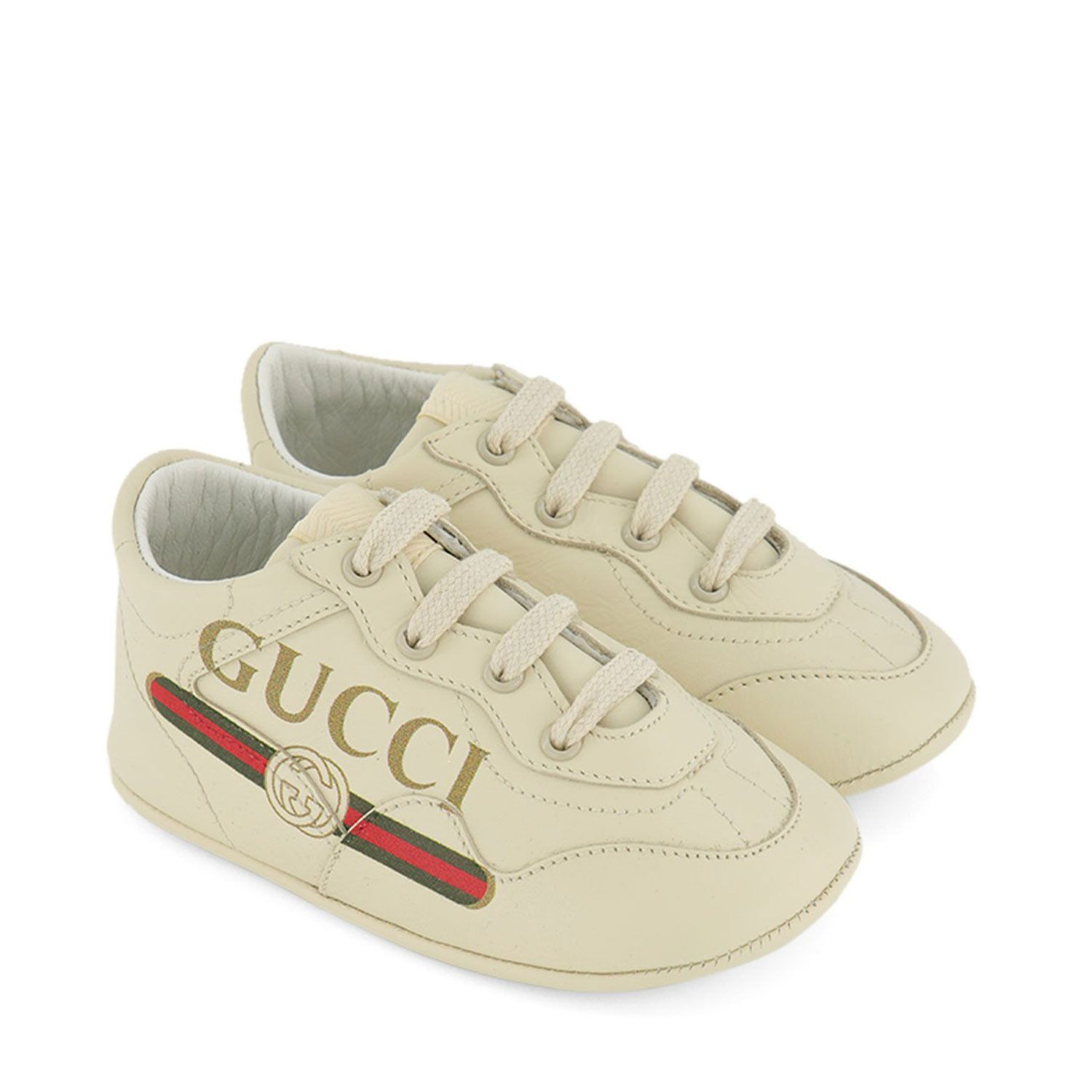 Picture of Gucci 612786 baby sneakers off white
