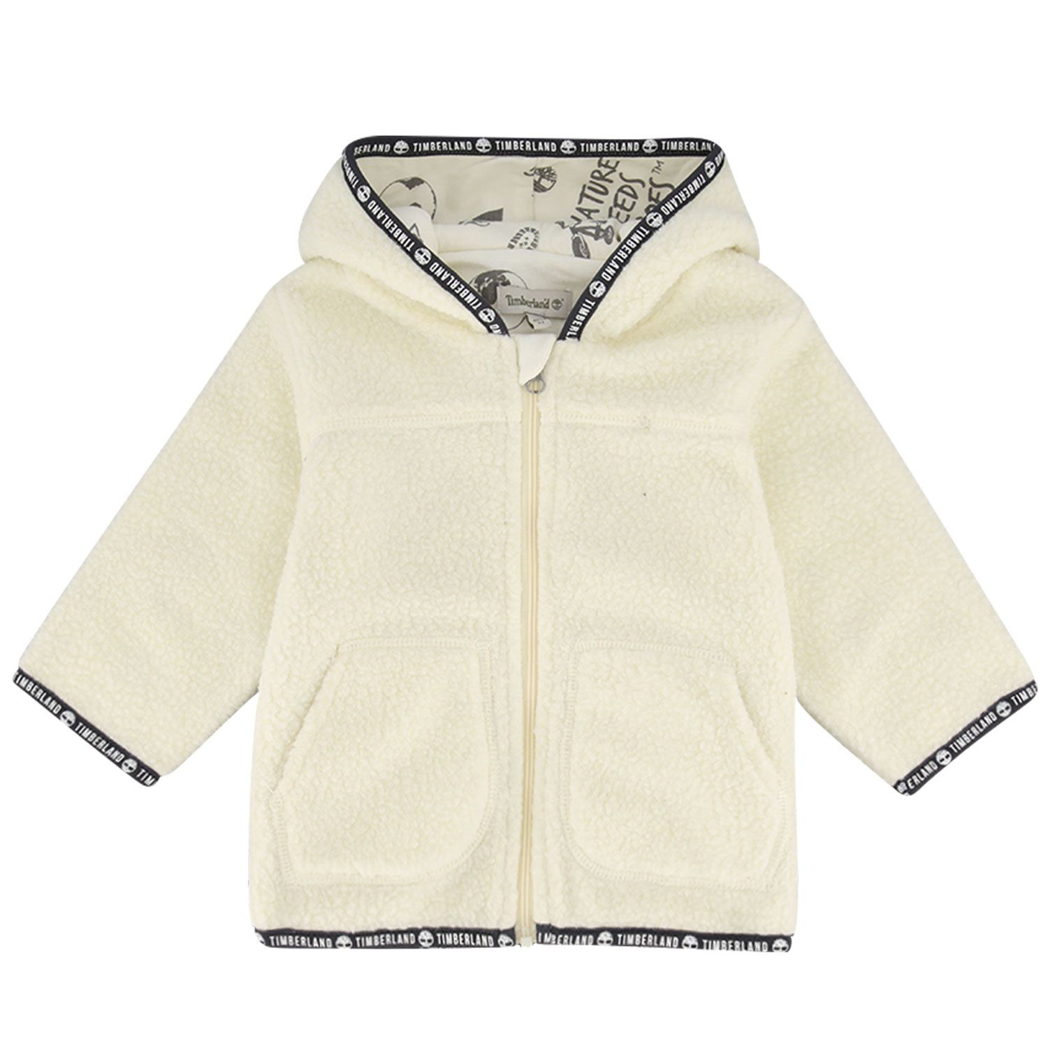 Picture of Timberland T95898 baby coat off white