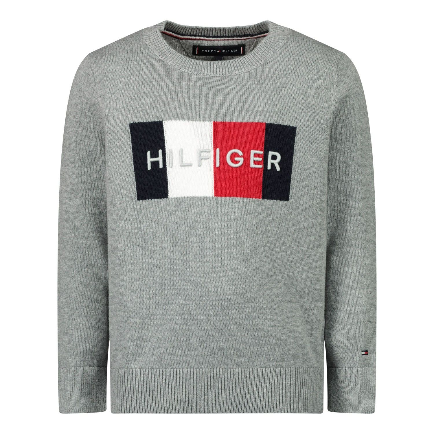 Picture of Tommy Hilfiger KB0KB05812B baby sweater grey