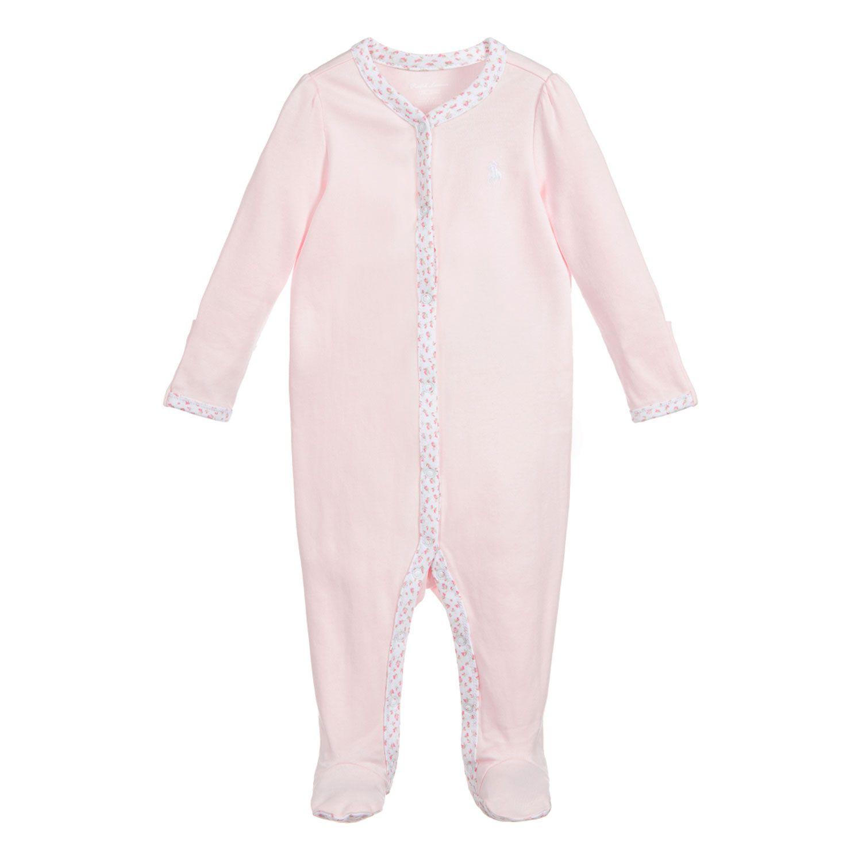 Picture of Ralph Lauren 310552471 baby playsuit light pink