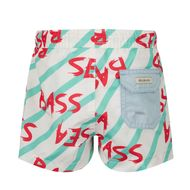 Afbeelding van SEABASS SWIMSHORT B baby badkleding mint/roze