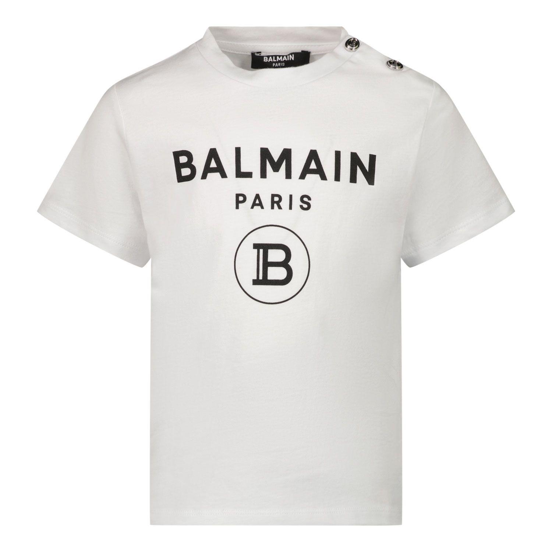 Bild von Balmain 6O8A21 Baby-T-Shirt Weiß