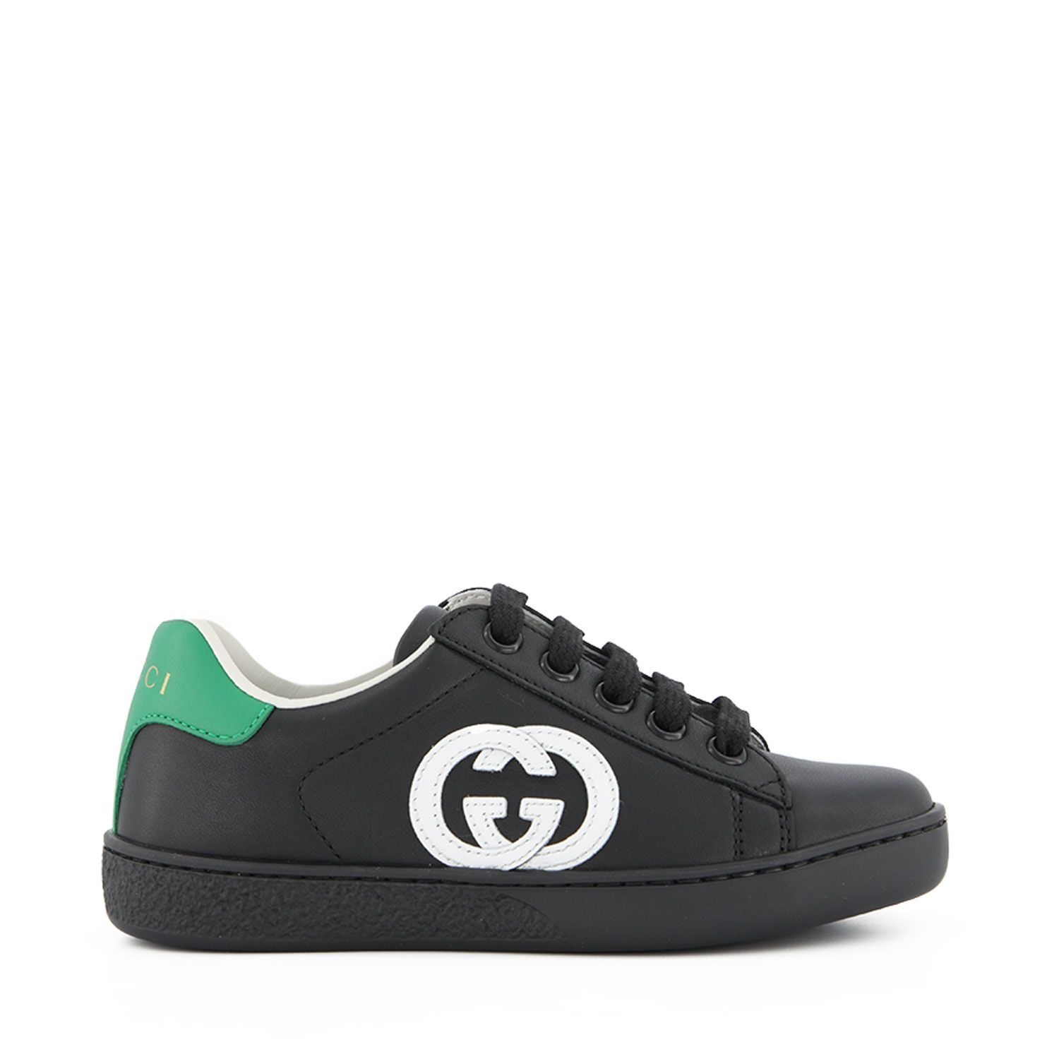Picture of Gucci 647071 kids sneakers black