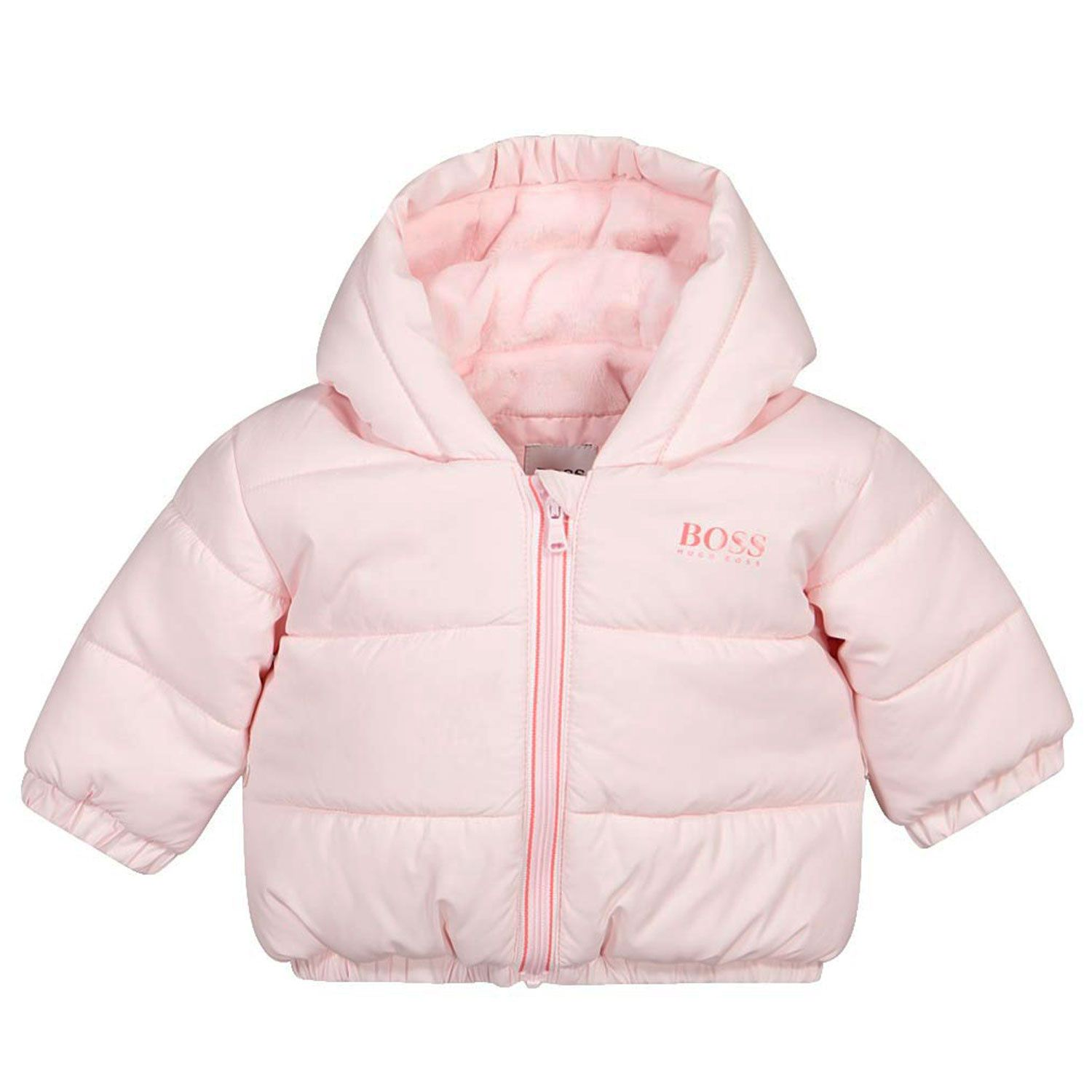 Picture of Boss J96086 baby coat light pink