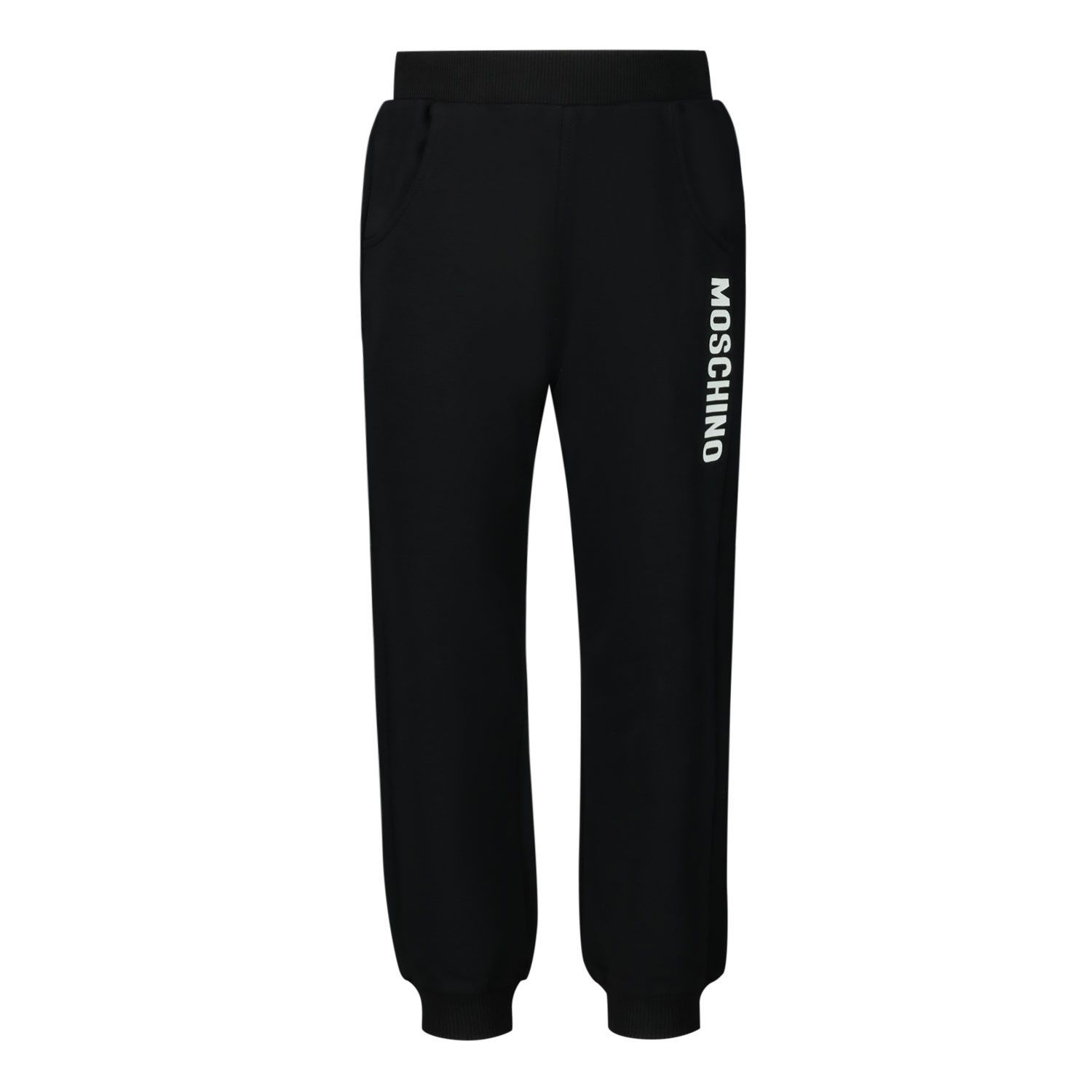 Picture of Moschino MRP023 baby pants black