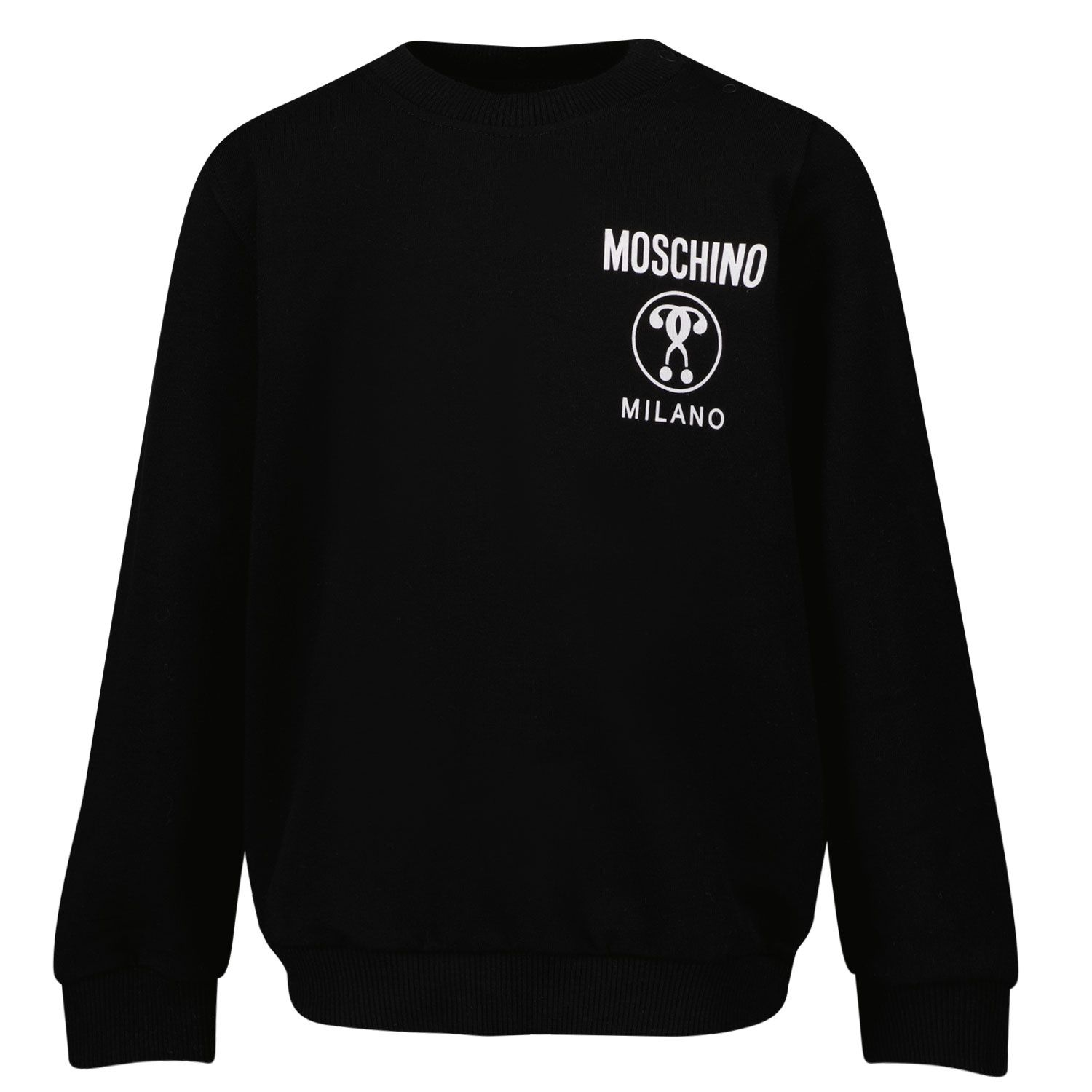 Picture of Moschino MYF03E baby sweater black