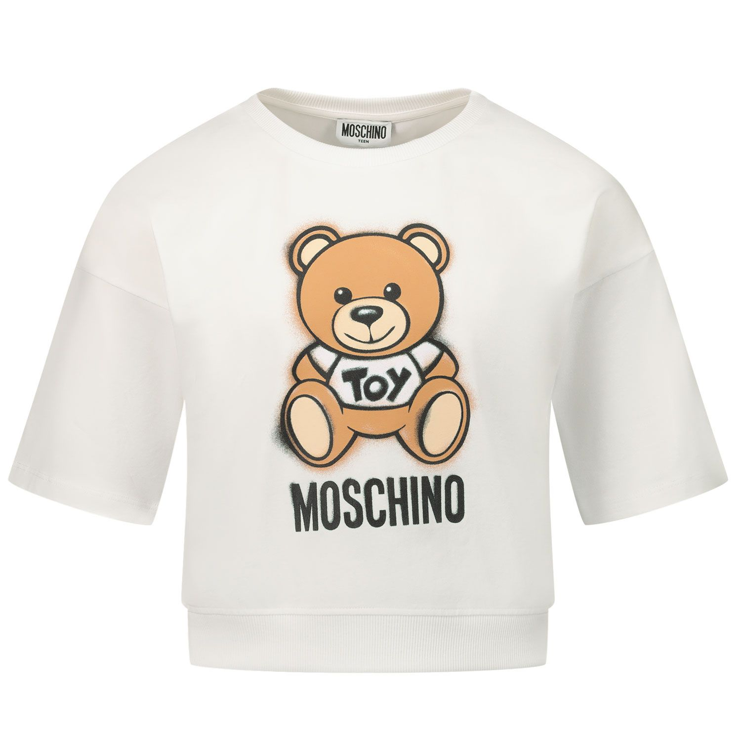 Picture of Moschino HDM03X kids t-shirt white