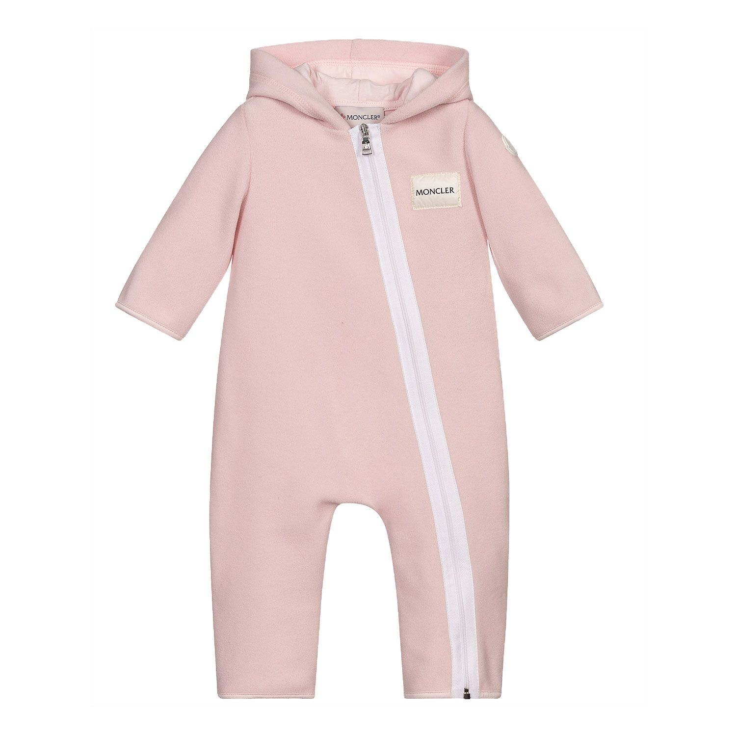 Picture of Moncler 8L73100 baby playsuit light pink