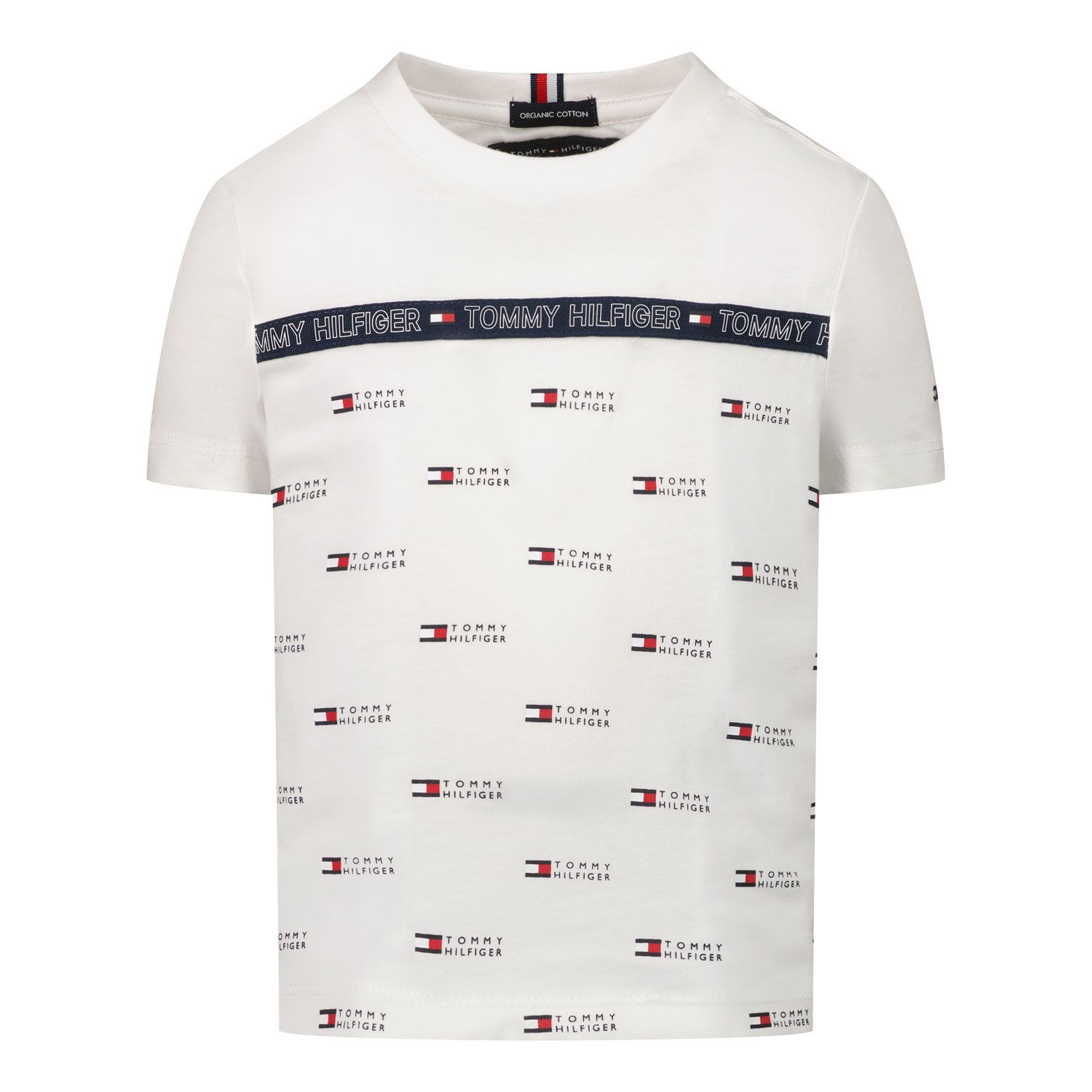 Picture of Tommy Hilfiger KB0KB06524 B baby shirt white