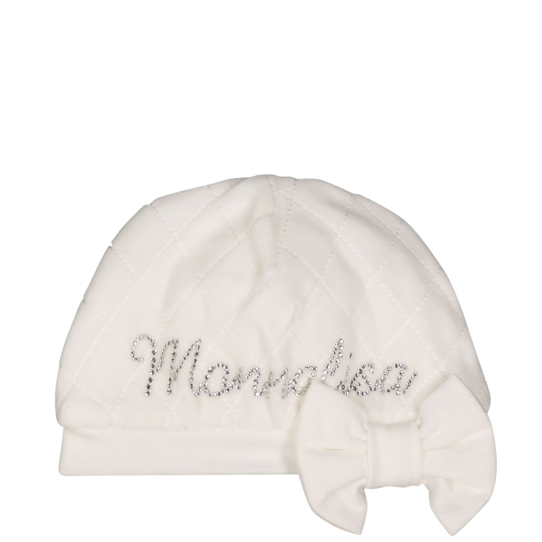Afbeelding van MonnaLisa 358022 babymutsje off white