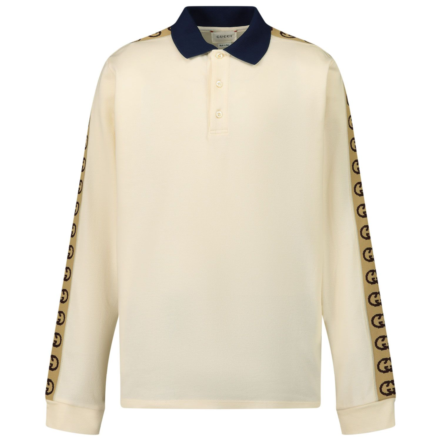Picture of Gucci 616953 kids polo shirt off white
