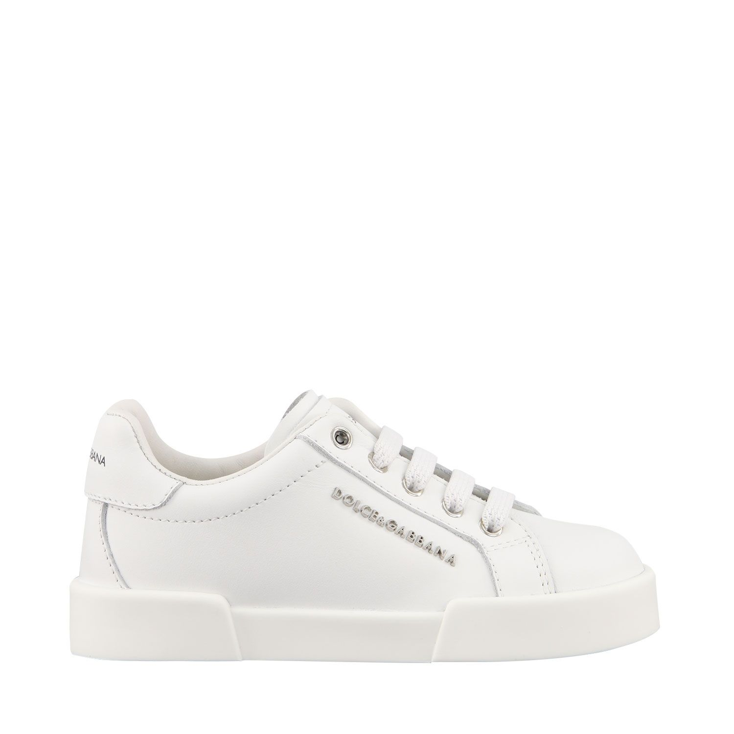 Picture of Dolce & Gabbana DN0134 A3444 kids sneakers white