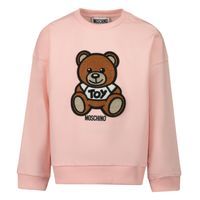 Picture of Moschino MUF03I baby sweater light pink