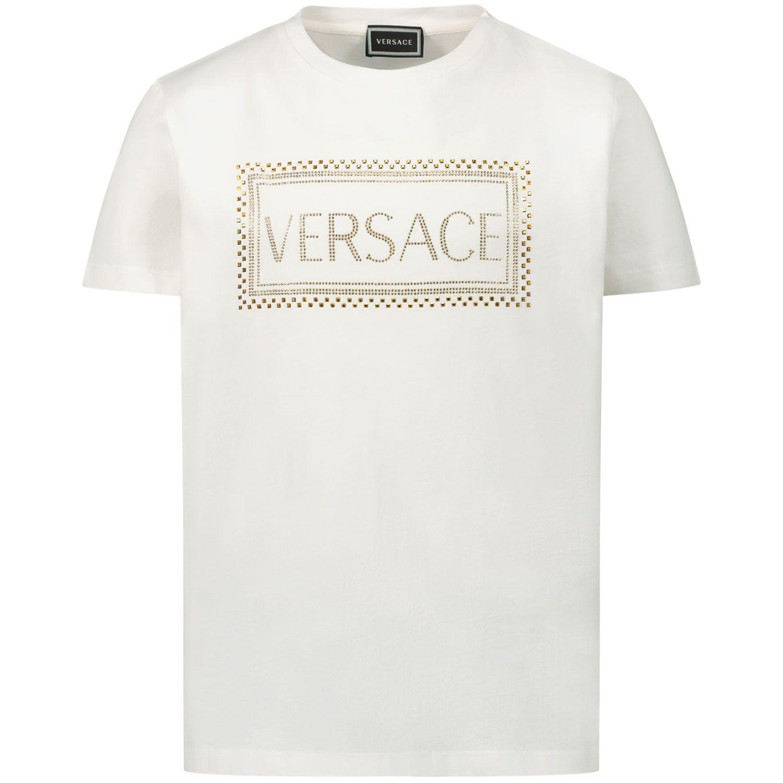 Afbeelding van Versace YC000280 kinder t-shirt wit
