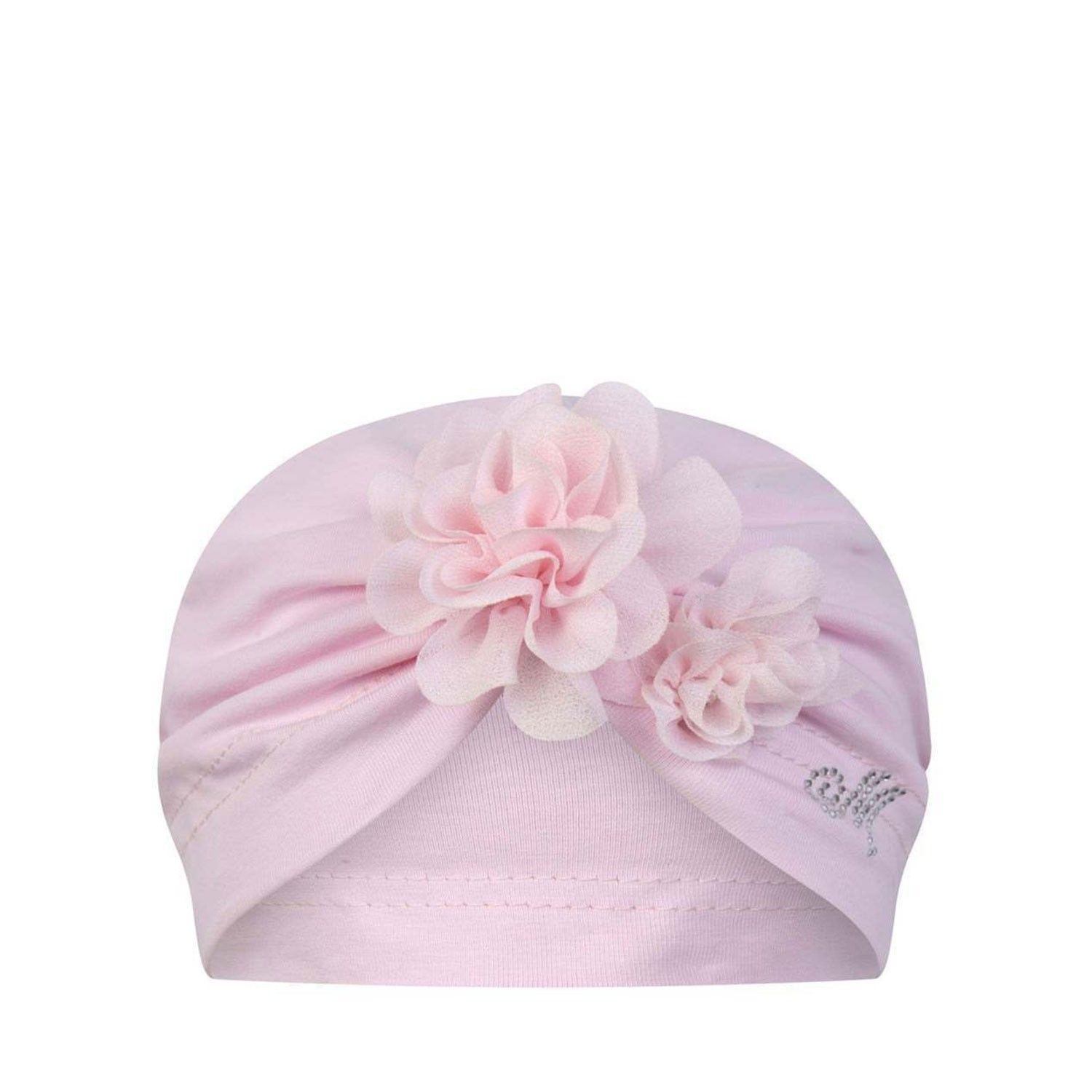 Picture of MonnaLisa 355024 baby hat light pink